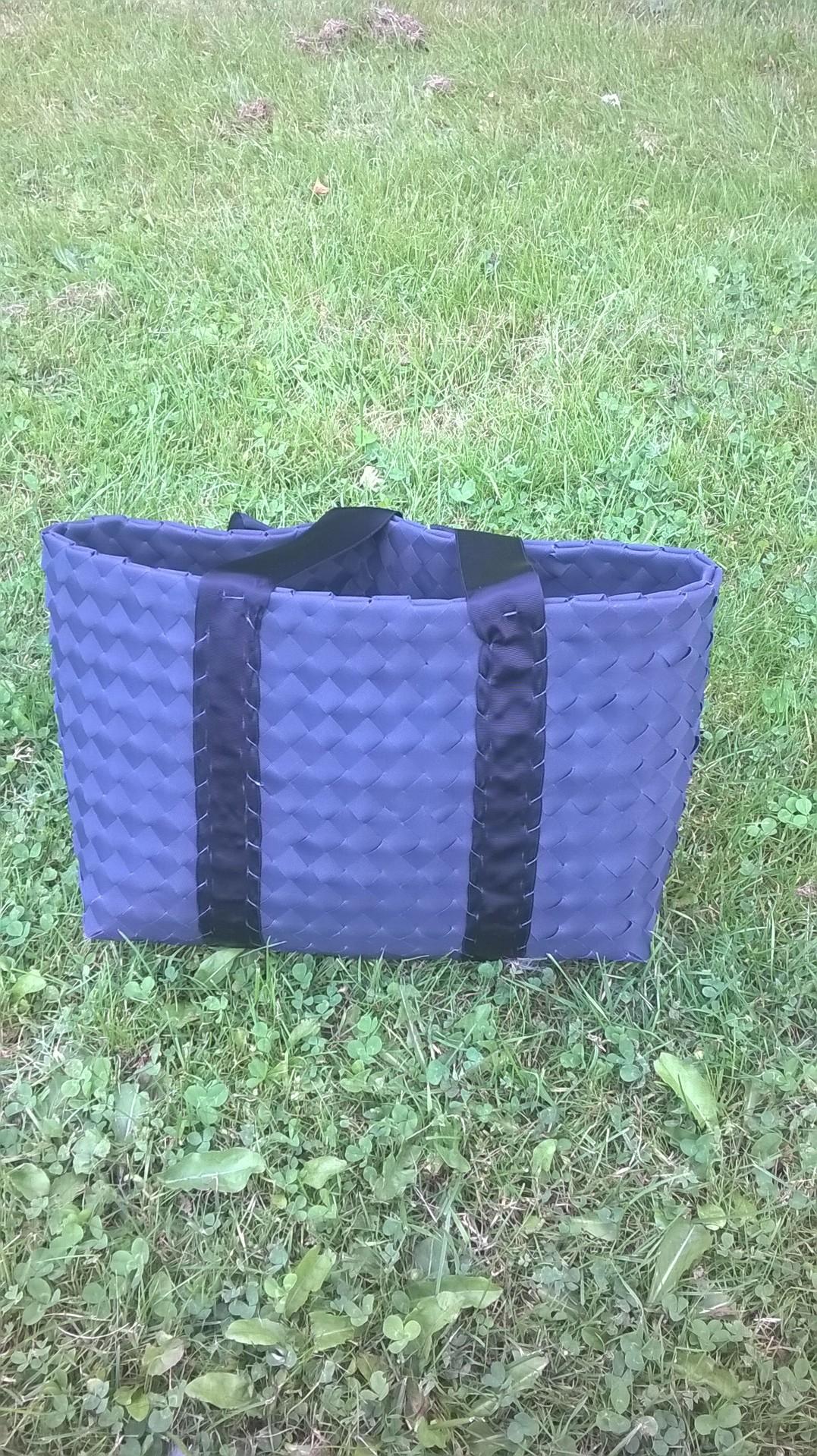 Taske af lamelgardiner